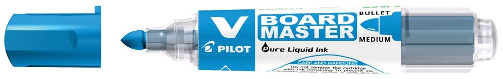 Pilot whiteboardmarker V-Board Master M, medium 2,3 mm, blauw