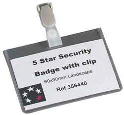 5 Star badge met clip