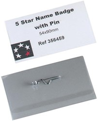 5 Star badge met speld ft 54 x 90 mm