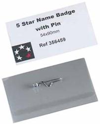 5 Star badge met speld ft 54 x 90 mm