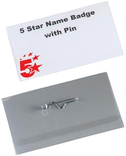 5 Star badge met speld ft 40 x 75 mm, doos van 100 stuks
