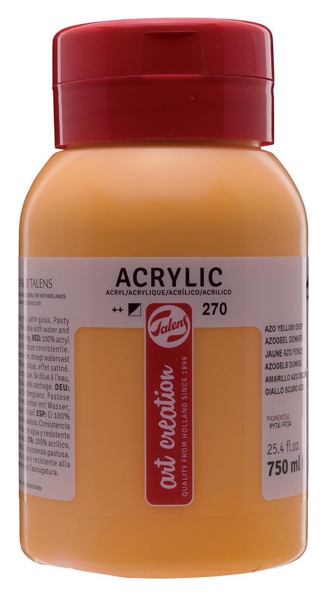 Talens Art Creation acrylverf flacon van 750 ml, donker azogeel