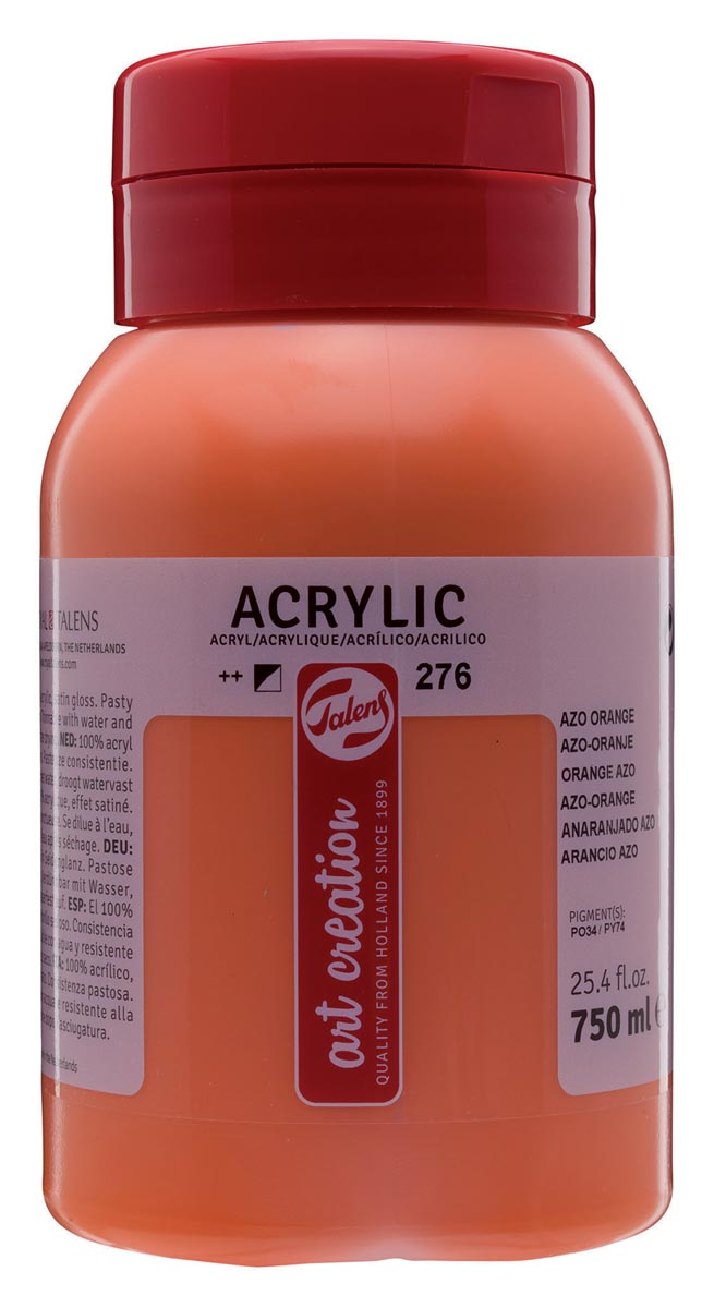 Talens Art Creation acrylverf flacon van 750 ml, azo-oranje