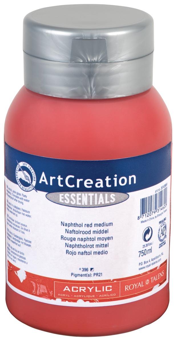 Talens Art Creation acrylverf flacon van 750 ml, middel naftolrood