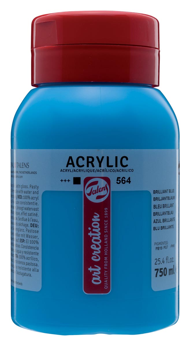 Talens Art Creation acrylverf flacon van 750 ml, briljantblauw