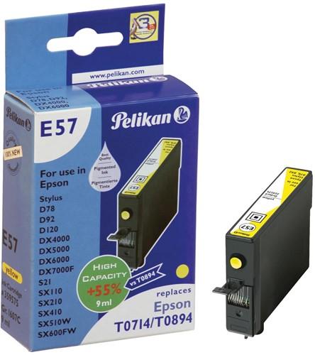 Pelikan inktcartridge geel, 415 pagina's voor Epson T0714 - OEM: C13T07144011