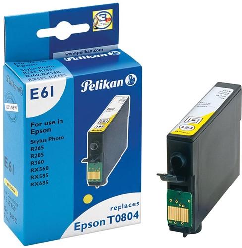 Pelikan inktcartridge geel, 620 pagina's voor Epson T0804 - OEM: C13T08044011