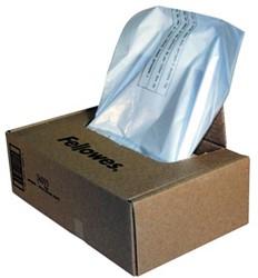 Fellowes opvangzakken van 38 liter voor papiervernietigers, pak van 100 zakken