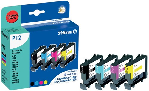 Pelikan inktcartridge 4 kleuren, 400 - 500 pagina's voor Brother