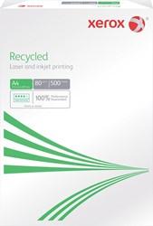 Xerox gerecycleerd kopieerpapier Recycled ft A4, 80 g, pak van 500 vel