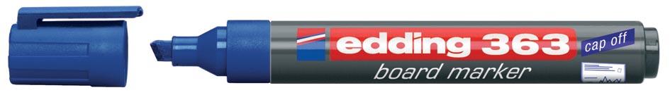 Viltstift Edding 363 whiteboard beitel blauw 1.5-5mm