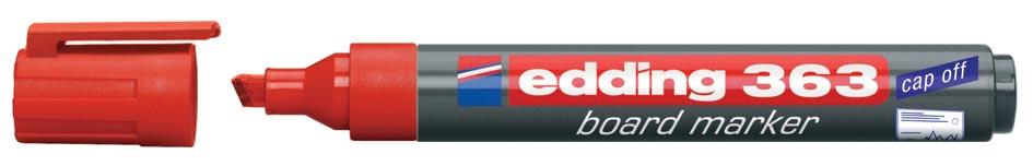 Viltstift Edding 363 whiteboard beitel rood 1.5-5mm