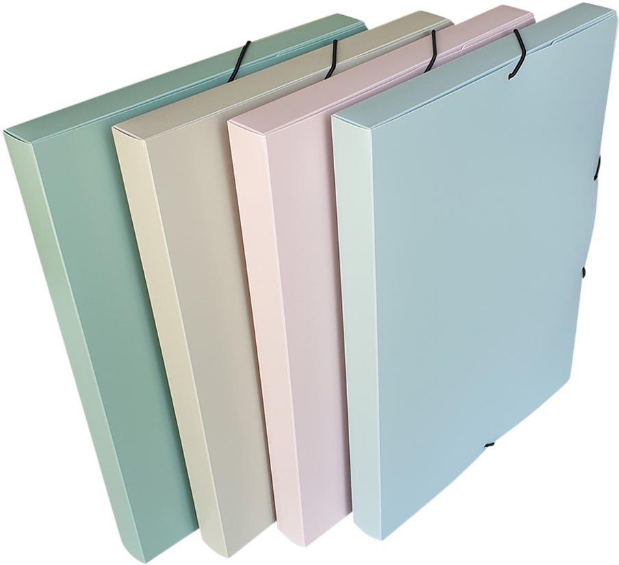 Bronyl elastobox Smooth, voor ft A4, uit PP, geassorteerde kleuren