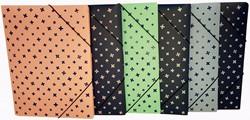 Bronyl elastomap met 3 kleppen en elastiek, voor ft A4, geassorteerde pastel kleuren