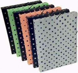 Bronyl elastobox met elastosluiting voor ft A4, uit PP, rug van 2,5 cm, geassorteerde pastel kleuren