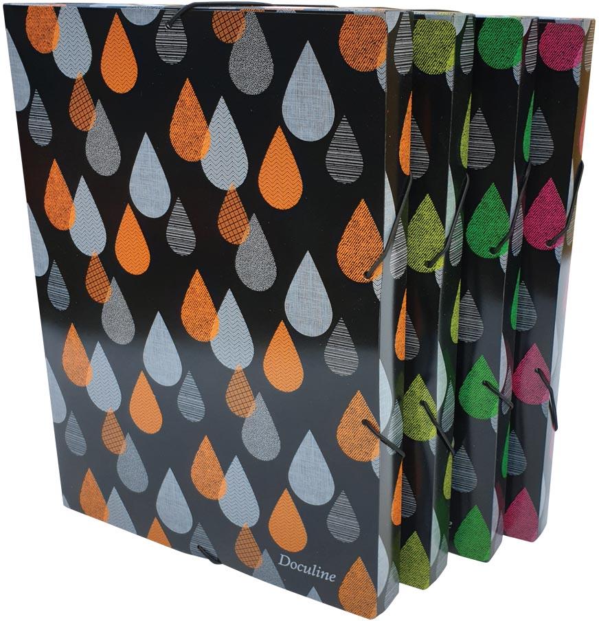 Bronyl elastobox Drops, voor ft A4, uit PP, geassorteerde kleuren