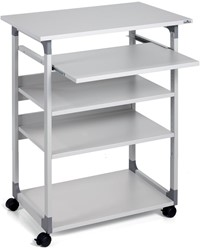 Durable computermeubel Trolley 75 VH, grijs