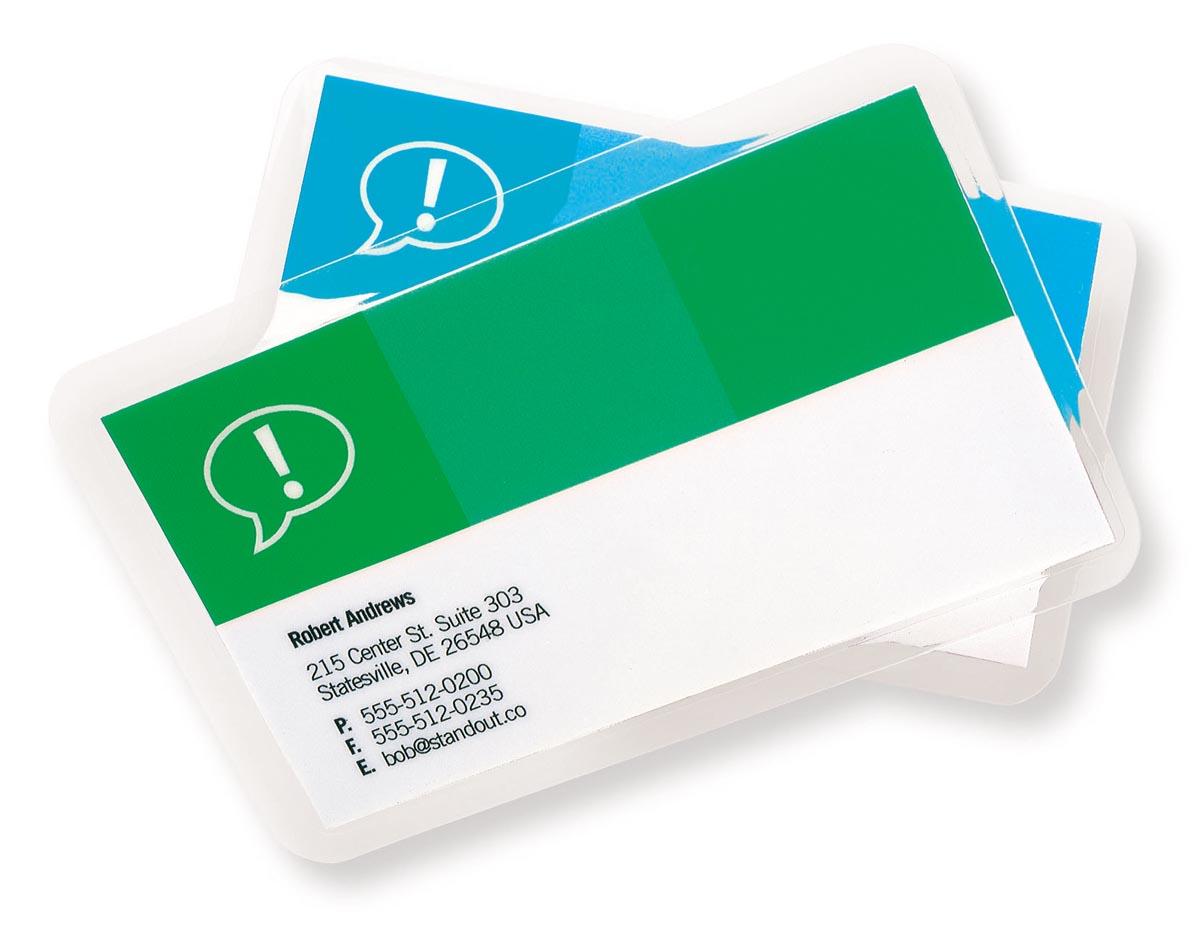 GBC Card lamineerhoes ft 54 x 86 mm, 250 micron (2 x 125 micron), pak van 100 stuks