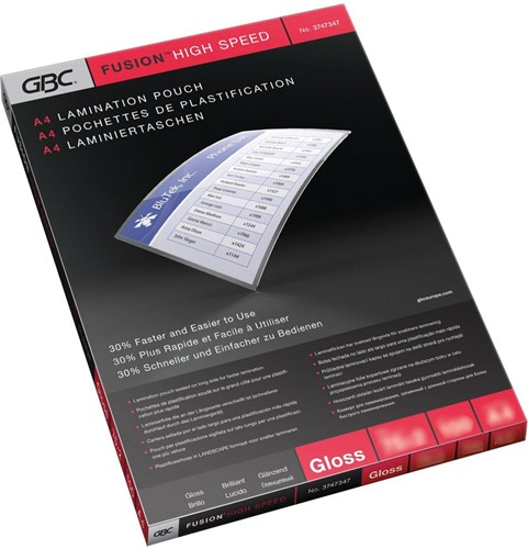 GBC HighSpeed lamineerhoes ft A4, 150 micron (2 x 75 micron), pak van 100 stuks