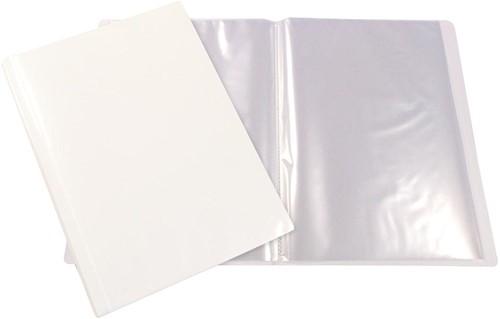 Beautone personaliseerbaar showalbum, A4, 20 tassen, wit