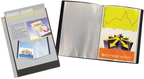 Beautone personaliseerbaar showalbum, A4, 40 tassen, zwart