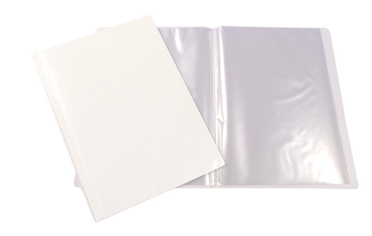 Beautone personaliseerbaar showalbum, A4, 100 tassen, wit