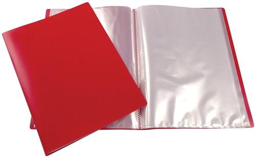 Beautone showalbum, A4, 20 tassen, rood