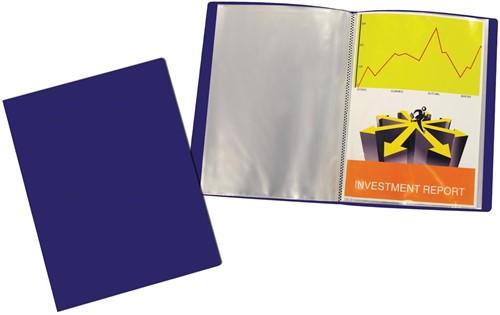 Beautone showalbum, A4, 20 tassen, blauw
