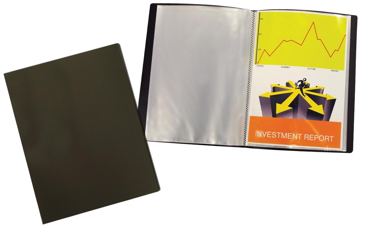 Beautone showalbum, A4, 20 tassen, zwart