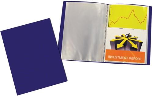 Beautone showalbum, A4, 30 tassen, blauw