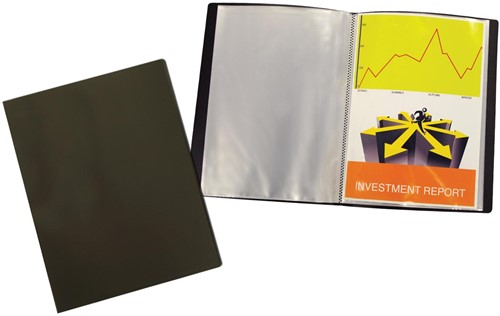 Beautone showalbum, A4, 30 tassen, zwart