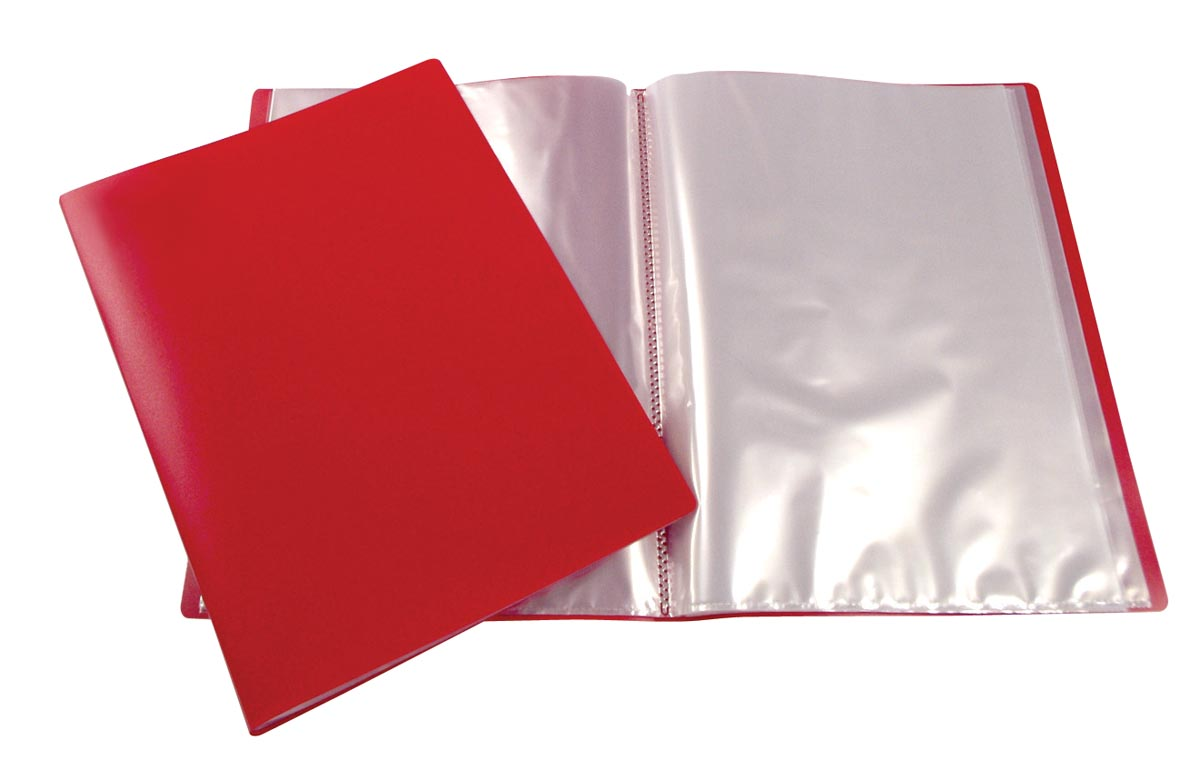 Beautone showalbum, A4, 40 tassen, rood