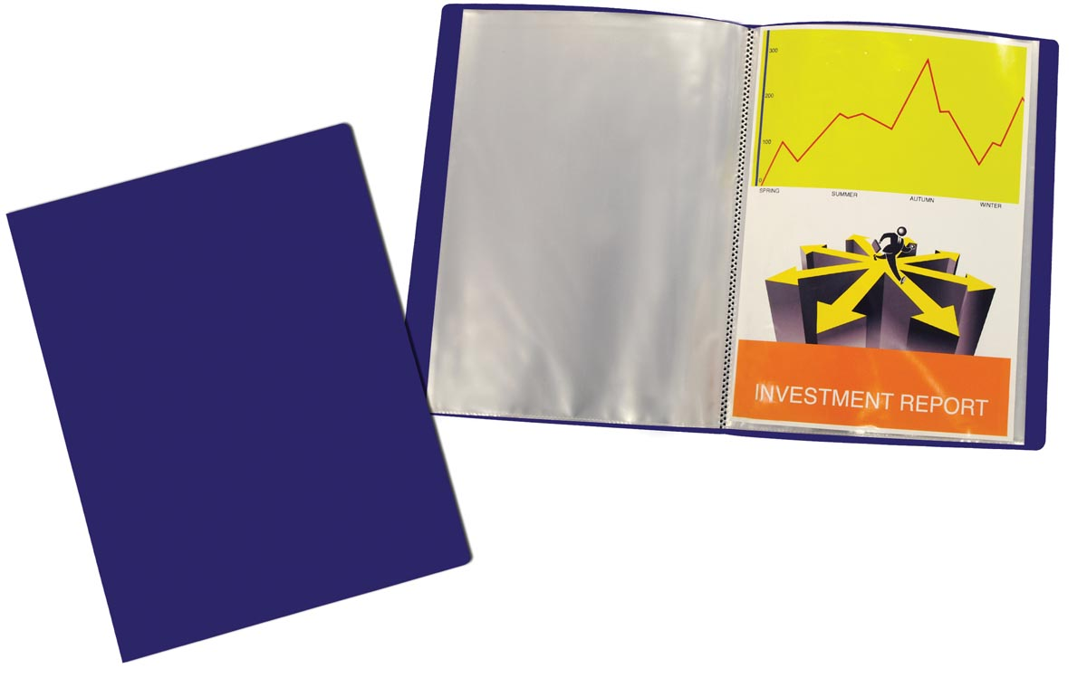 Beautone showalbum, A4, 40 tassen, blauw