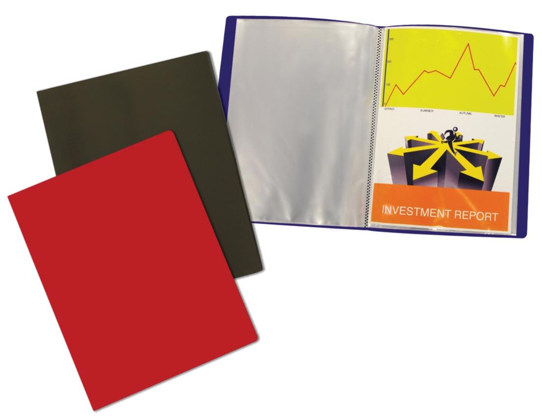 5 Star showalbum, ft A4, 40 tassen, geassorteerde kleuren