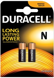 Duracell batterijen Security MN9100, blister van 2 stuks