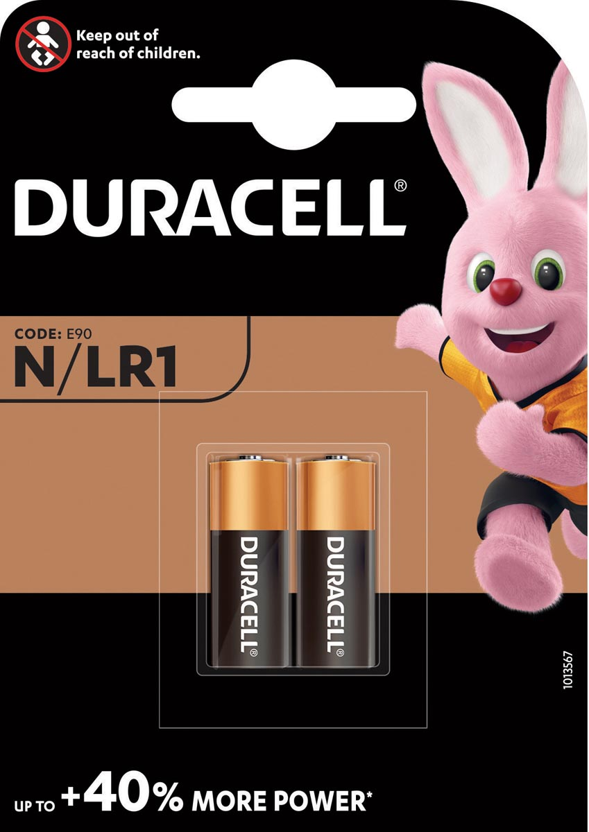 Duracell batterijen Security MN9100, blister van 2 stuks