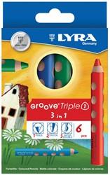 Lyra Kleurpotlood Groove Triple 3 in 1, 6 potloden