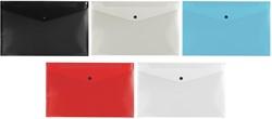 5 Star documentenmap, ft A4, geassorteerde kleuren: zwart, grijs, blauw, rood, wit