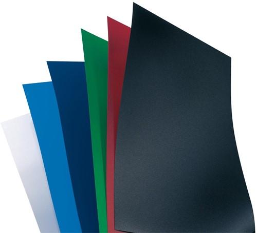 GBC omslagen PolyOpaque ft A4, pak van 100 stuks, 300 micron, zwart