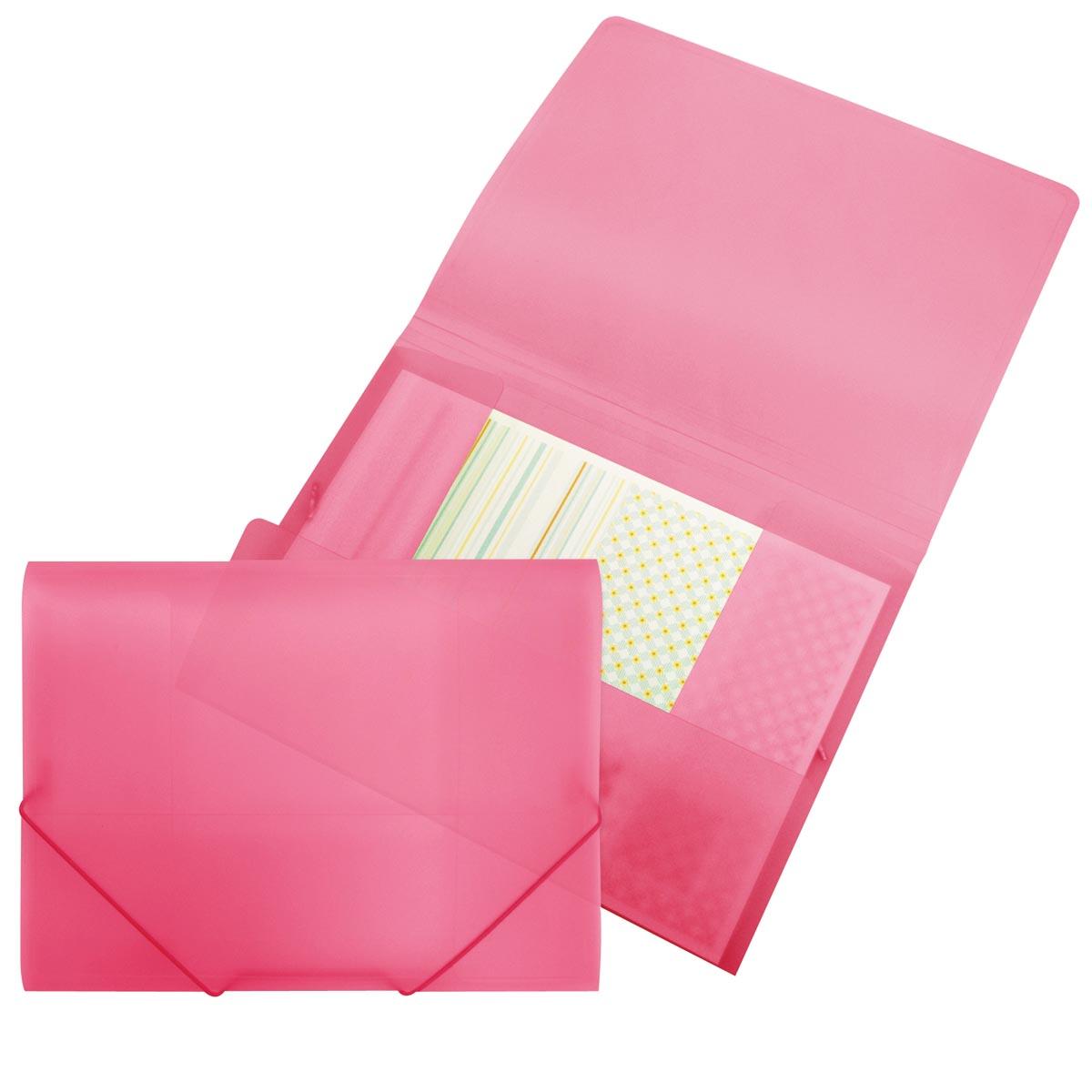 Beautone elastomap met kleppen, ft A4, roze