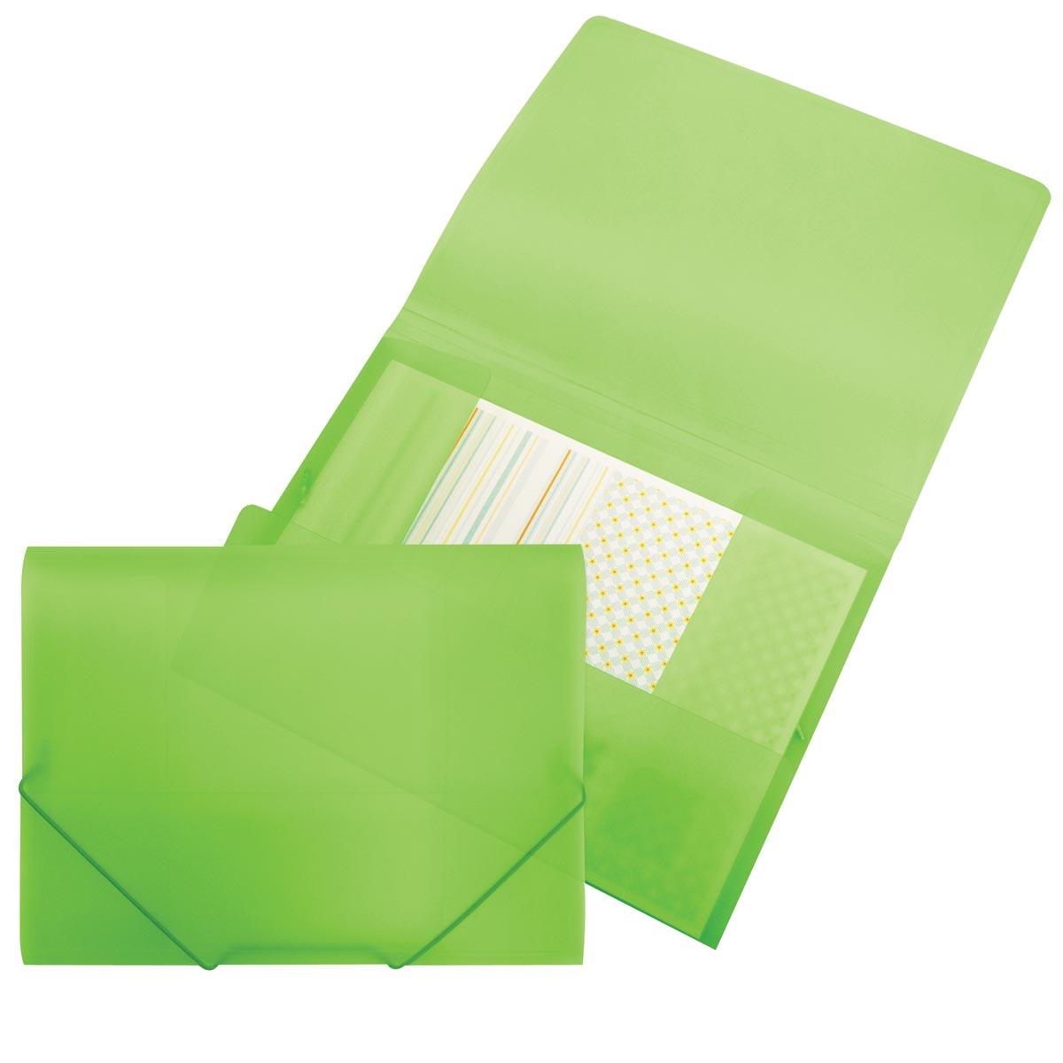 Beautone elastomap met kleppen, ft A4, groen