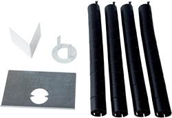 R-Go Biobased kabelgoot set voor plafond, zwart