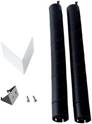 R-Go Biobased kabelgoot voor bureau, zwart