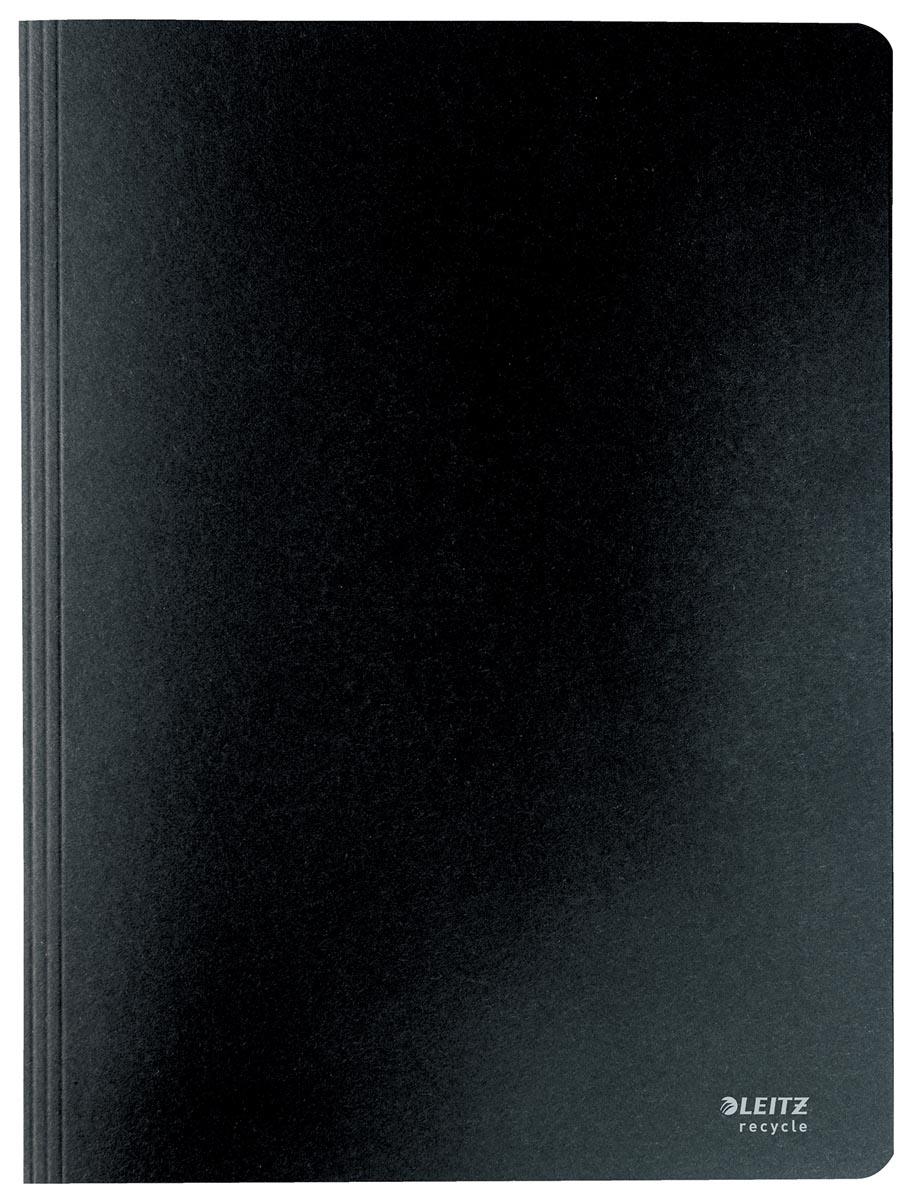 Leitz Recycle snelhechtmap, ft A4, 100 % gerecycleerde karton, zwart