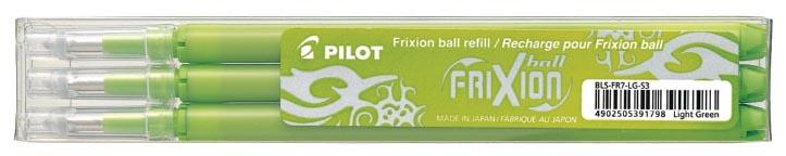 Pilot vullingen voor Frixion Ball en Frixion Ball Clicker, licht groen , etui met 3 stuks