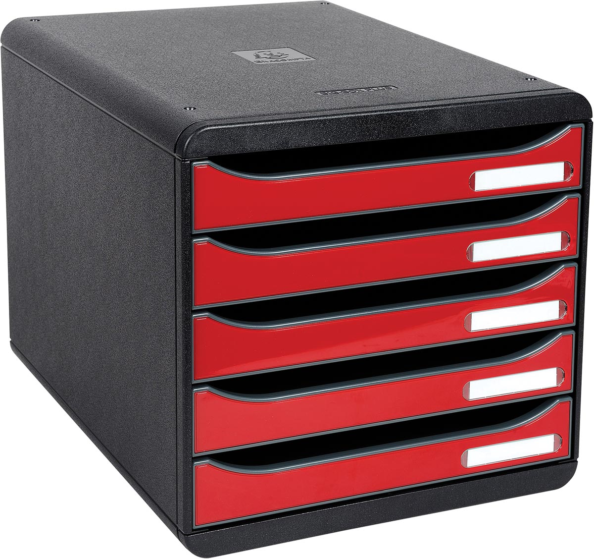 Exacompta ladenblok Big-Box Plus zwart/rood