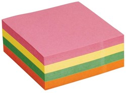 5 Star Re-Move Note Cube 76 x 76 mm, neonkleuren, blok van 320 vel