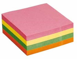 5 Star Re-Move Note Cube 76 x 76 mm, neonkleuren, blok van 320 vel