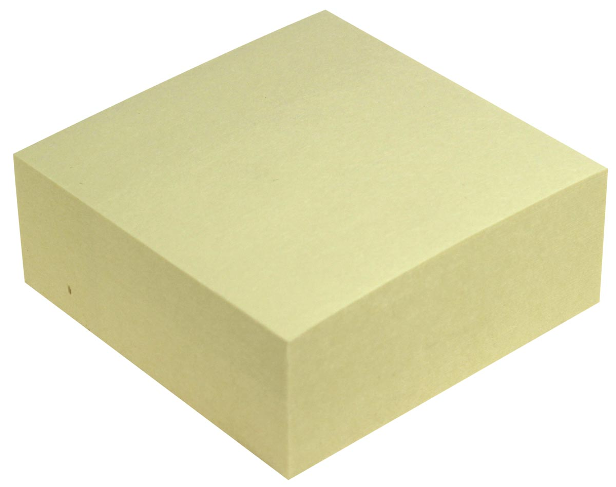 5 Star Re-Move Note Cube 76 x 76 mm, geel, blok van 320 vel