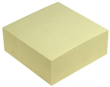 5 Star Re-Move Note Cube 76 x 76 mm, geel, blok van 320 vel